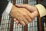 London interview handshake