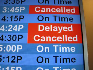 Cancelled trains commuting to managed offices in London