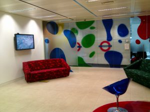 Google Victoria office space seating area