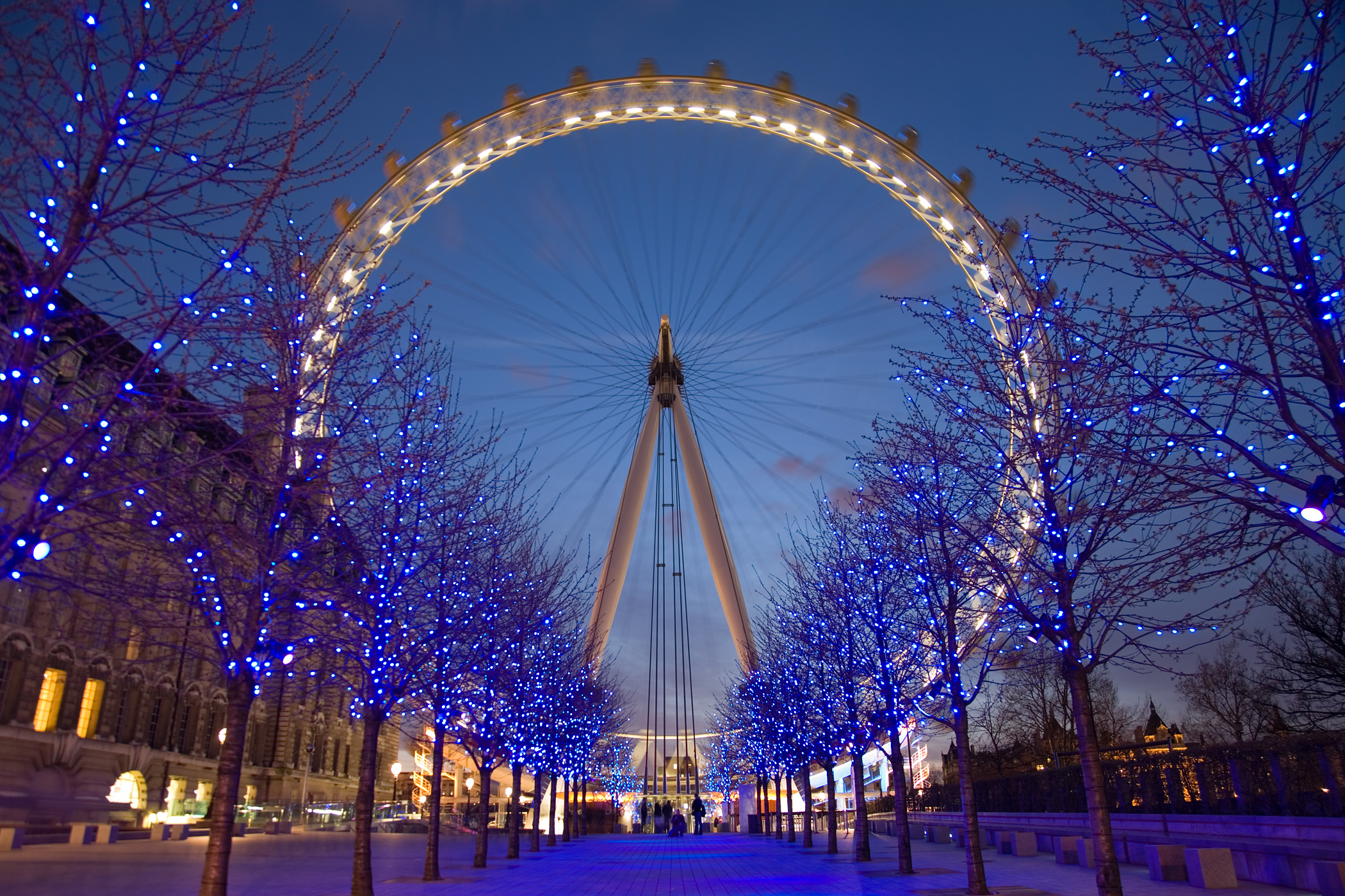 Office in Central London xmas London Eye
