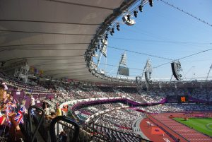Inside the Olympic stadium flexible office space