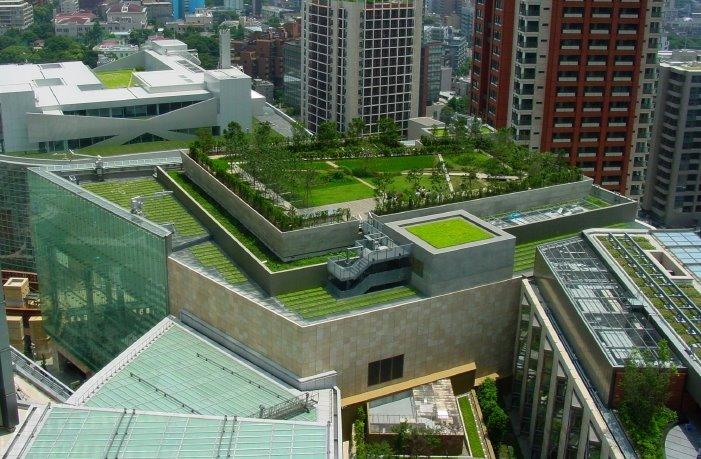 Green roof garden on London office buildings