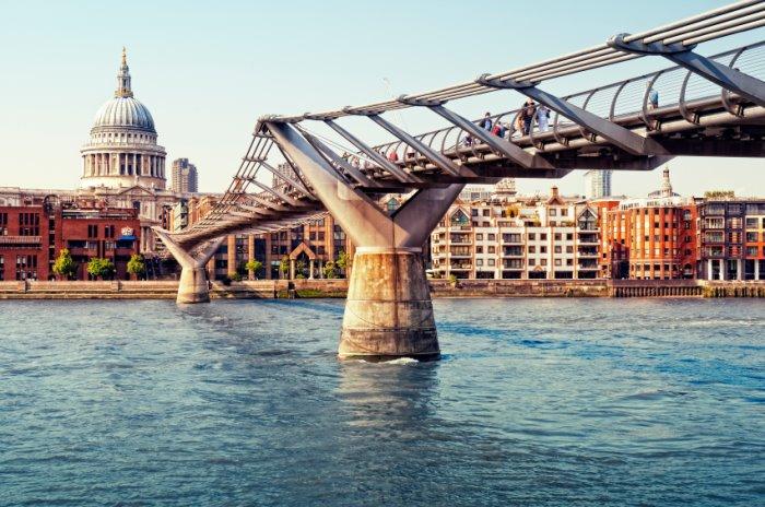 St Pauls & Millennium Bridge leading to central london serviced offices