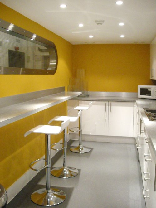 Pink Floyd Islington London office space for rent Kitchen