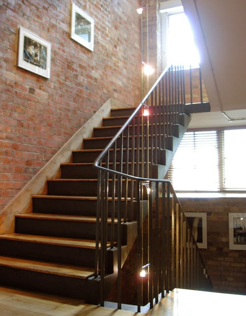 Pink Floyd Islington London office space for rent Stairway