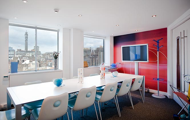 Meeting room in Soho office