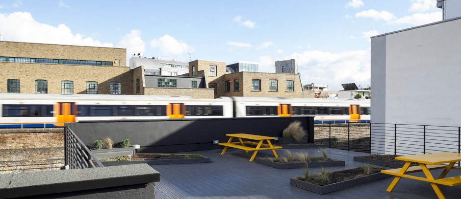 Offices in Silicon Roundabout roof terrace