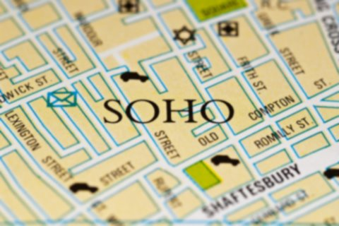 Soho map for Central London offices