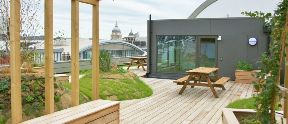 office space in Farringdon roof terrace