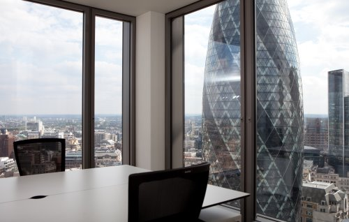 View of Gherkin from London office for rent