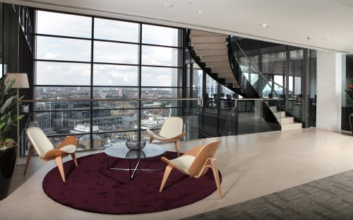 Bishopsgate London office for rent breakout space
