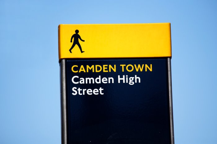 London Street Sign office space in Camden