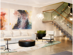 London office to rent Dover Street lounge area