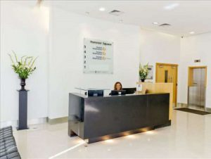 office rental in London Hanover Sqaure reception