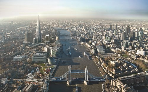 Shard-and-View-over-London-Bridge and office space in SE1
