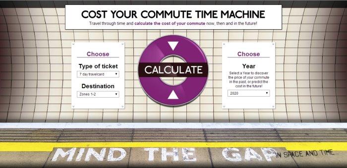 Tube Fare Time Machine Cost Your Commute