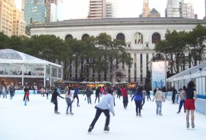 go ice skating during London office space breaks