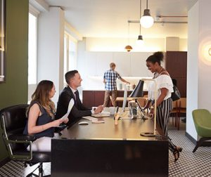 serviced office space in london support