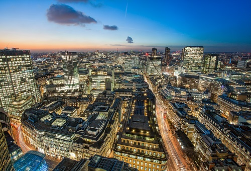 Aerial views of offices in london to rent