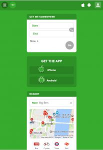 London serviced office space Citymapper App