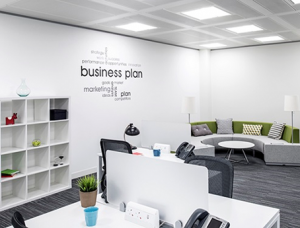 London office space rent wall stickers