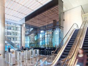 Heron Tower office in London Reception