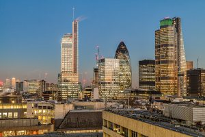 View from Regus City Point London office space prices