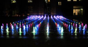 Fountains at Granary Square, in Kings Cross London
