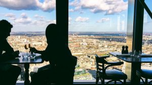 View from Duck and Waffle business breakfast