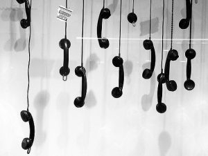 multipule hanging phones london office etiquette