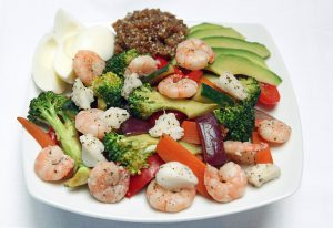 Fresh Fitness Food Shrimp Salad for the London office