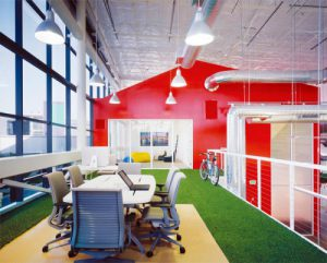 Google office space biophilic interiors
