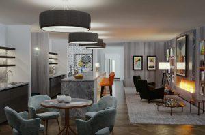 Halkin office space lounge