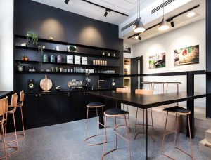 Kreativ House office space to rent in London kitchen
