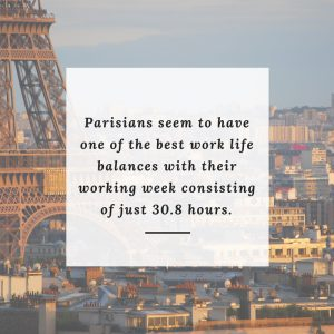 Parisians work life balance quote
