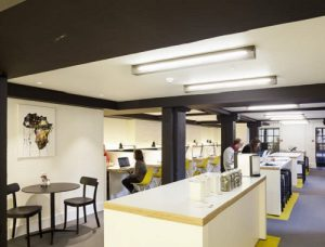 Serviced office providers in London art Black and White building