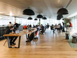 WeWork co-working temporary office space in London