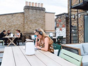 Rent a space in London work with headphones