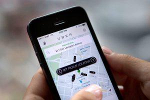 Uber in London app