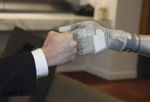 Bionic Arm Fist Bump