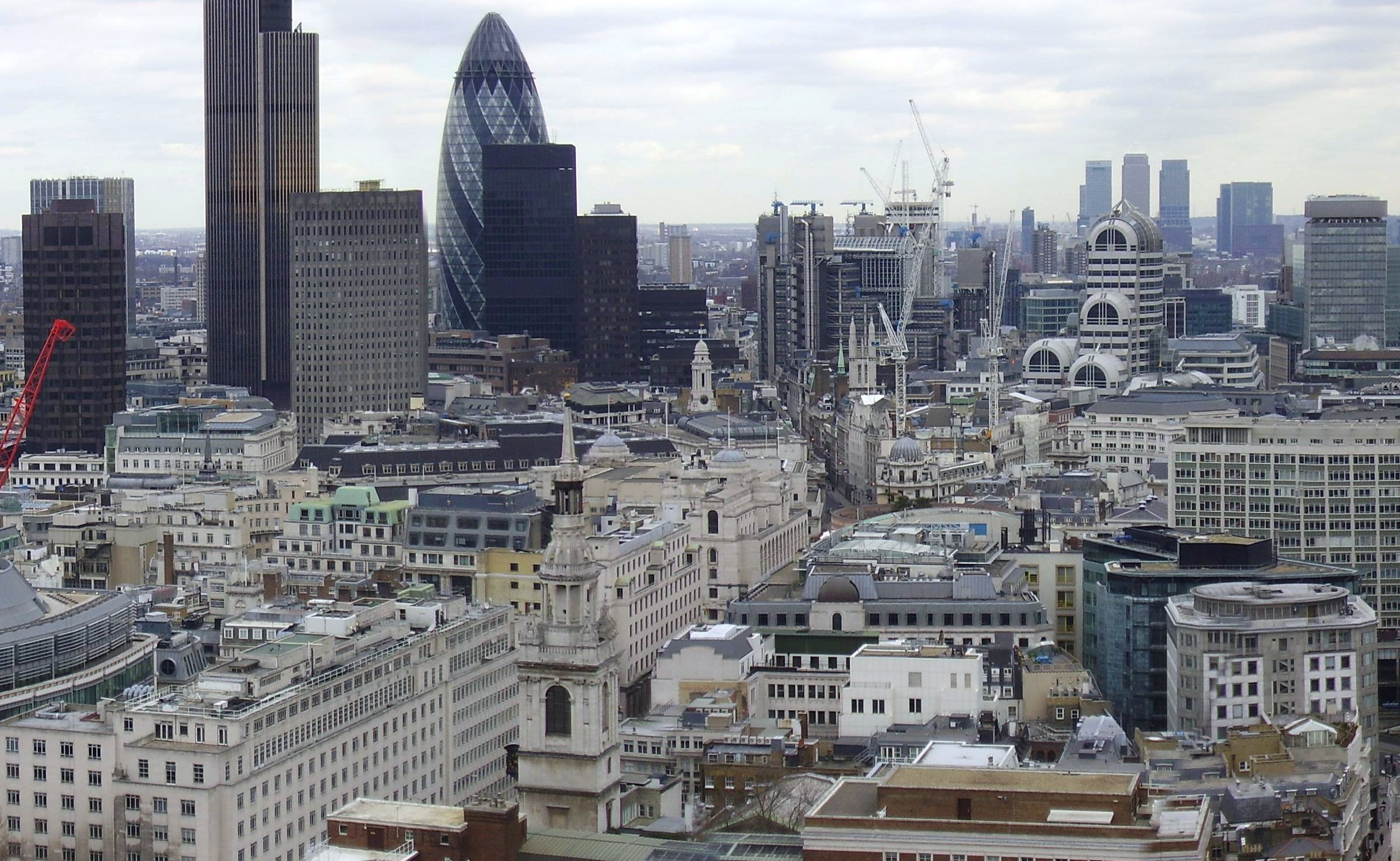 skyline of City of London commercial property