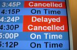 Cancelled trains travelling to London offices