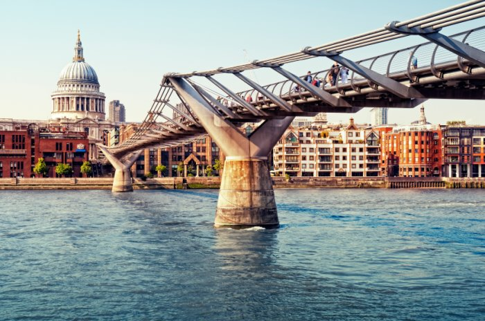 St Pauls & Millennium Bridge leading to central london serviced offices