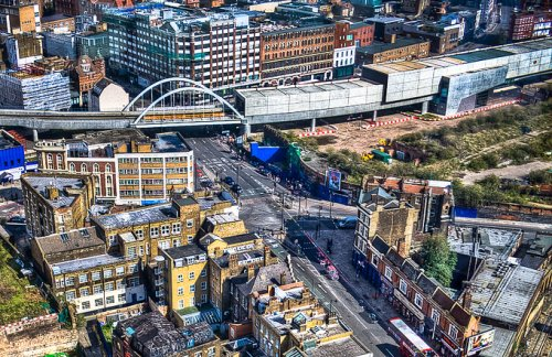 Shoreditch over view and shared office in London