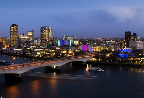 Southbank by Night view of managed offices london