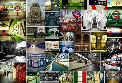 London Underground Collage