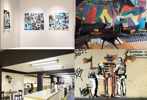 Serviced office providers in London art collage