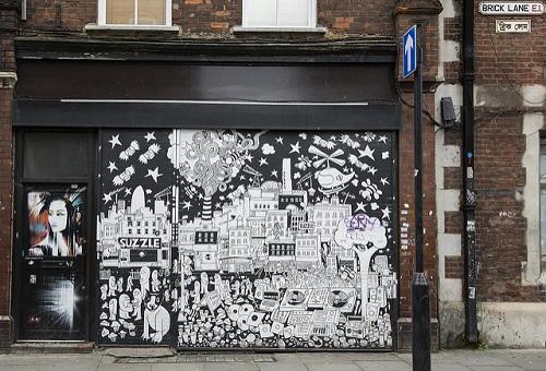 Shoreditch street art Brick Lane